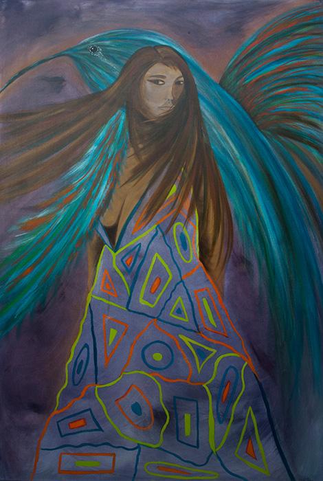 2. Vogelblauwvrouw