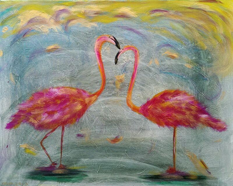 24. Flammende Flamingo's