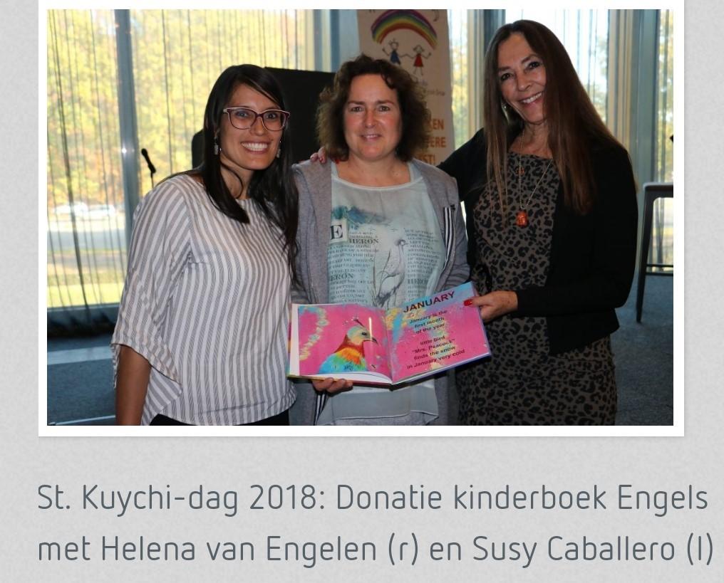 St. Kuychi dag 2018 met v.l.n.r. Susy Caballero, Margriet Monks, Helena van Engelen